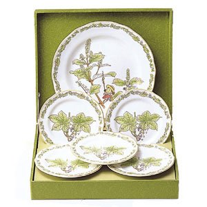 6 Piece Set - Plate (L) & 5 Plate (S) - Bone China - Noritake - Totoro (new)
