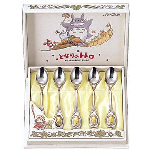 Ghibli - Totoro - 5 Teaspoon Set - 18-8 Stainless Steel & Partial Gold-plating - Noritake (new)