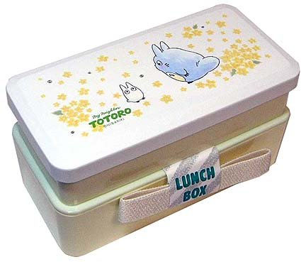 Ghibli - Chu & Sho Totoro - 2 Tier Lunch Bento Box & Belt - yamabuki -outproduction-SOLD(new)