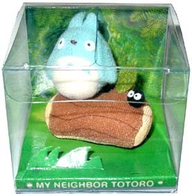 Ghibli - Chu Totoro & Kurosuke - Mini Plush Doll-outofproduction-RARE(new)