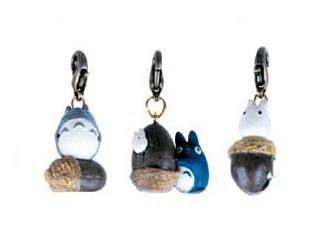 3 Mini Key Holder Set - Totoro & Chu & Sho Totoro on Acron - no production (new)