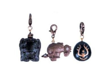 Ghibli - Laputa - Robot & Tiger Moth & Flying Stone - 3 Mini Key Holder Set - SOLD(new)