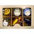 6 Chain Strap Set - Mascot - Totoro & Chu & Sho & Nekobus & Kurosuke & Lizard - Sun Arrow (new)