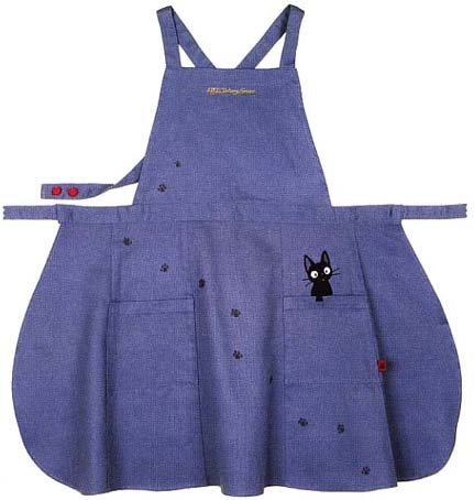 Ghibli - Kiki's - Jiji - Apron - Jiji Applique - Logo Embroidered - long (new)