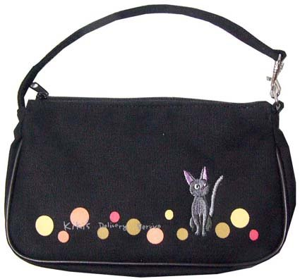 Ghibli - Kiki's - Jiji - Hand Bag - Jiji Embroidered - black - SOLD OUT (new)