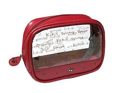 Ghibli - Kiki's Delivery Service - Jiji - Pouch - round - red -out of production-RARE-SOLD(new)