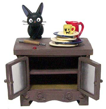 Ghibli - Kiki's - Jiji - China Cabinet  - Case - 2006 (new)