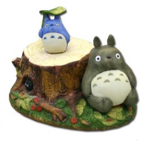 Music Box - Rotary - Porcelain - amefuri - Totoro &amp; Chu &amp; Kurosuke - sekiguchi - no production (new)