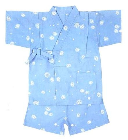 Ghibli - Totoro - Kurosuke - Jinbe - Japanese Traditional Clothing (kids M) - Japanese Dyed (new)