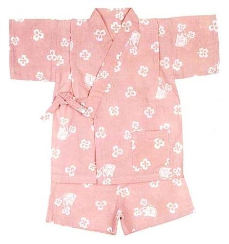 Ghibli - Totoro & Clover - Jinbe - Japanese Traditional Clothing (kids S) - Japanese Dyed (new)