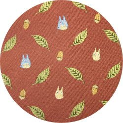 Ghibli - Chu & Sho Totoro - Necktie - Silk - Jacquard Weaving - leaf - wine - 2006 - SOLD OUT (new)