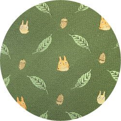 Ghibli - Chu & Sho Totoro - Necktie - Silk - Jacquard Weaving - leaf - green - 2006 - SOLD OUT (new)