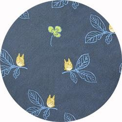 Ghibli - Totoro - Necktie - Silk - Jacquard Weaving - clover - navy - 2006 - only 1 left (new)