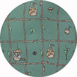 Ghibli - Totoro & Sho Totoro & Makkuro Kurosuke - Necktie - Silk - branch - green - SOLD OUT(new)