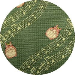 Ghibli - Totoro - Necktie - Silk - Jacquard Weaving - note - green - 2006 - 1 left (new)