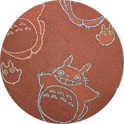 Ghibli - Totoro & Sho Totoro - Necktie - Silk - Jacquard Weaving - flying - wine -2006-SOLD OUT(new)