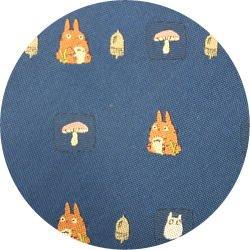 Ghibli - Totoro & Sho Totoro - Necktie - Silk - Jacquard - mushroom - navy - 2006 - 3 left (new)