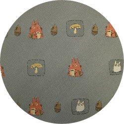 Ghibli - Totoro & Sho Totoro - Necktie - Silk - Jacquard Weaving - mushroom -gray-2006-SOLDOUT(new)