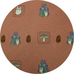 Ghibli - Totoro & Sho Totoro - Necktie - Silk - Jacquard - mushroom - wine - 2006 - 1 left (new)