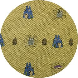 Ghibli - Totoro & Sho Totoro - Necktie - Silk - Jacquard Weaving - mushroom-yellow-2006-SOLDOUT(new)