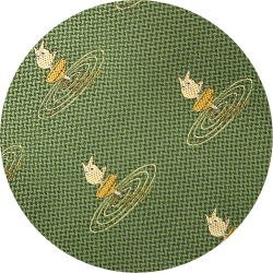 Ghibli - Sho Totoro - Necktie - Silk - Jacquard Weaving - top - green - 2006 - 1 left (new)