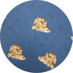 Ghibli - Totoro - Nekobus - Necktie - Silk - Jacquard Weaving - navy - 2006 - 1 left (new)