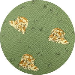 Ghibli - Totoro - Nekobus - Necktie - Silk - Jacquard Weaving - green - 2006 - 1 left (new)