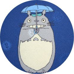 Ghibli - Totoro & Makkuro Kurosuke - Necktie - Silk - rain - navy -2006 - RARE - SOLD OUT (new)