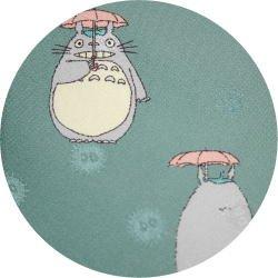 Ghibli - Totoro & Makkuro Kurosuke - Necktie - Silk - rain - green - 2006 - SOLD OUT (new)