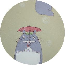 Ghibli - Totoro & Makkuro Kurosuke - Necktie - Silk - rain - yellow - 2006 - SOLD OUT (new)