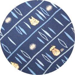 Ghibli - Totoro & Kurosuke - Necktie - Silk - sanpo - navy - 2006 - RARE - 1 left (new)