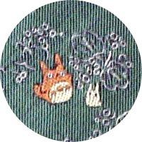 Ghibli - Chu & Sho Totoro - Necktie - Silk - Jacquard Weaving - leaf - green - RARE - SOLD (new)
