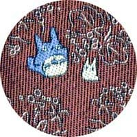 Ghibli - Chu & Sho Totoro - Necktie - Silk - Jacquard Weaving - leaf - wine - RARE - 1 left (new)