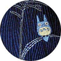 Ghibli - Totoro - Necktie - Silk - Jacquard Weaving - pampas grass - navy - SOLD OUT (new)