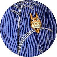 Ghibli - Totoro - Necktie - Silk - Jacquard Weaving - pampas grass - blue - SOLD OUT (new)