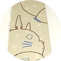 Ghibli - Totoro - Necktie - Silk - twin - beige - SOLD OUT (new)