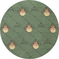 Ghibli - Totoro - Necktie - Silk - Jacquard Weaving - kaleidoscope - green - SOLD OUT (new)