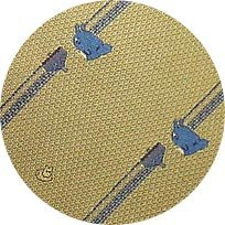 Ghibli - Totoro & Sho Totoro - Necktie - Silk - Jacquard Weaving - top - yellow - SOLD OUT (new)