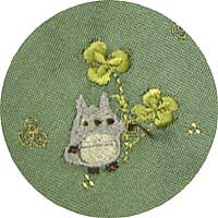 Ghibli - Totoro - Necktie - Silk - Jacquard Weaving - Totoro & Clover Embroidered-green-SOLDOUT(new)