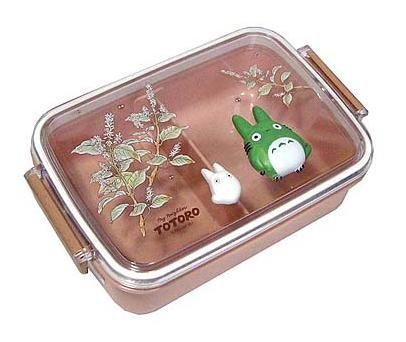 Ghibli - Chu Totoro & Sho Totoro - Lunch Bento Box -Relief-oblong-2006-outproduction-RARE(new)
