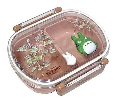 Lunch Bento Box - Relief -oval- made in Japan - Totoro -out of production (new)