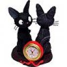 Mini Clock - Quartz - Jiji & Plush Doll - Kiki&#39;s Delivery Service - Ghibli (new)