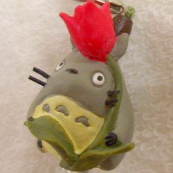 Ghibli - Totoro & Chu & Sho Totoro & Kurosuke - Hook & Strap - Natural Crystal - tulip - 2006 (new)
