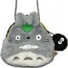 Gamaguchi Coin Purse - Shoulder Strap Holder - Totoro & Kurosuke - Ghibli - Sun Arrow (new)