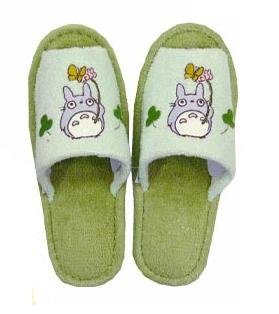 Ghibli - Totoro - Slipper - Totoro Applique - green (new)