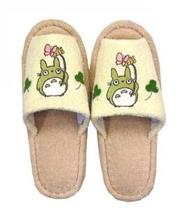 Ghibli - Totoro - Slipper - Totoro Applique - beige (new)