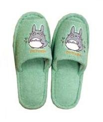 Slipper - Totoro Applique - Grass Embroidered - green - Ghibli (new)