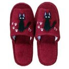 Slipper - Jiji Embroidered - wine - Kiki's Delivery Service - Ghibli (new)