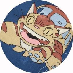 Ghibli - Totoro - Nekobus - Necktie - Silk - navy - RARE (new)