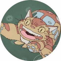 Ghibli - Totoro - Nekobus - Necktie - Silk - green - RARE (new)